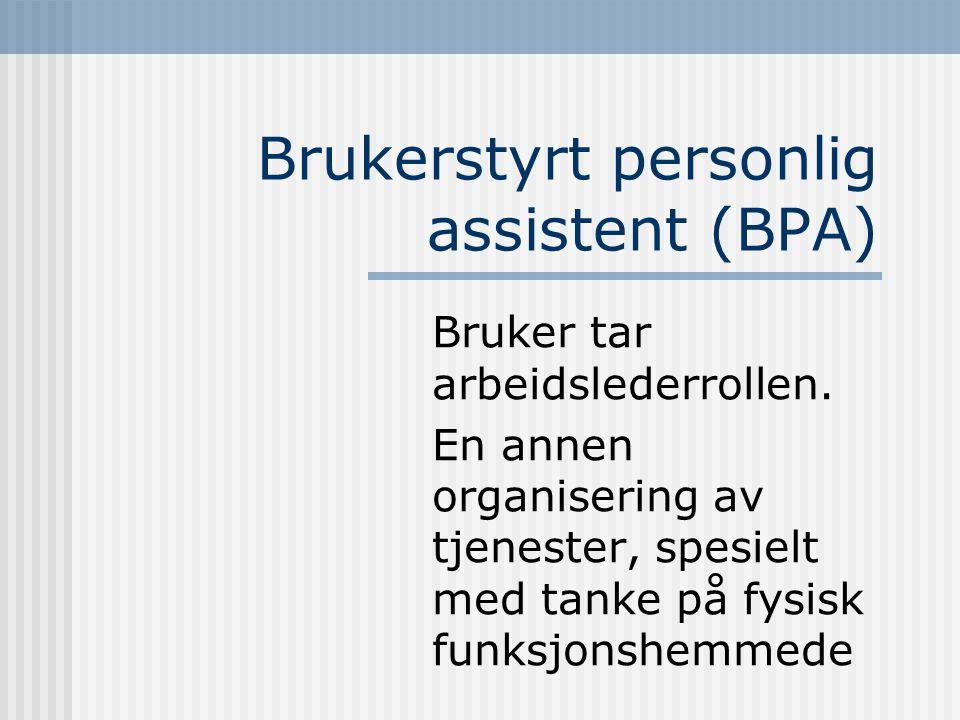 Brukerstyrt personlig assistent (BPA)