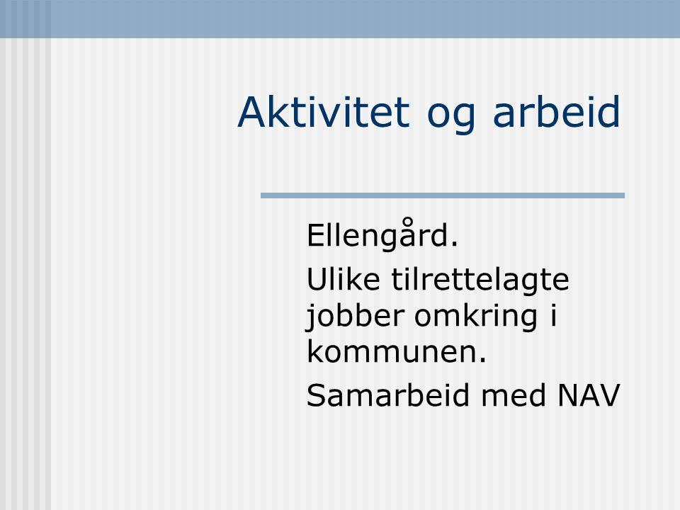 Aktivitet og arbeid Ellengård.