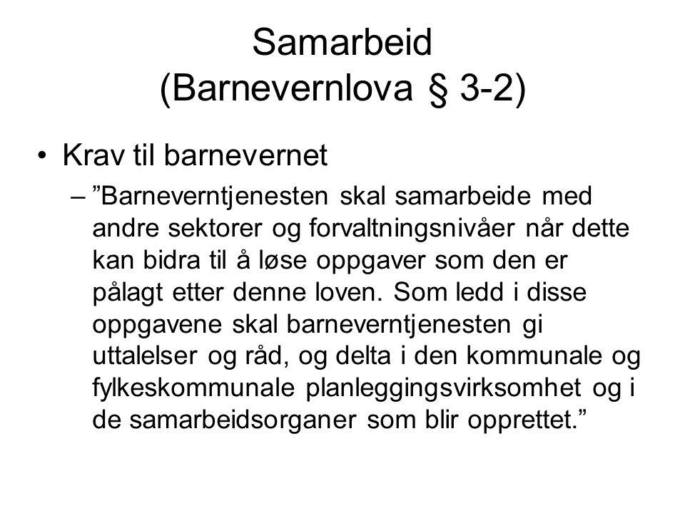 Samarbeid (Barnevernlova § 3-2)