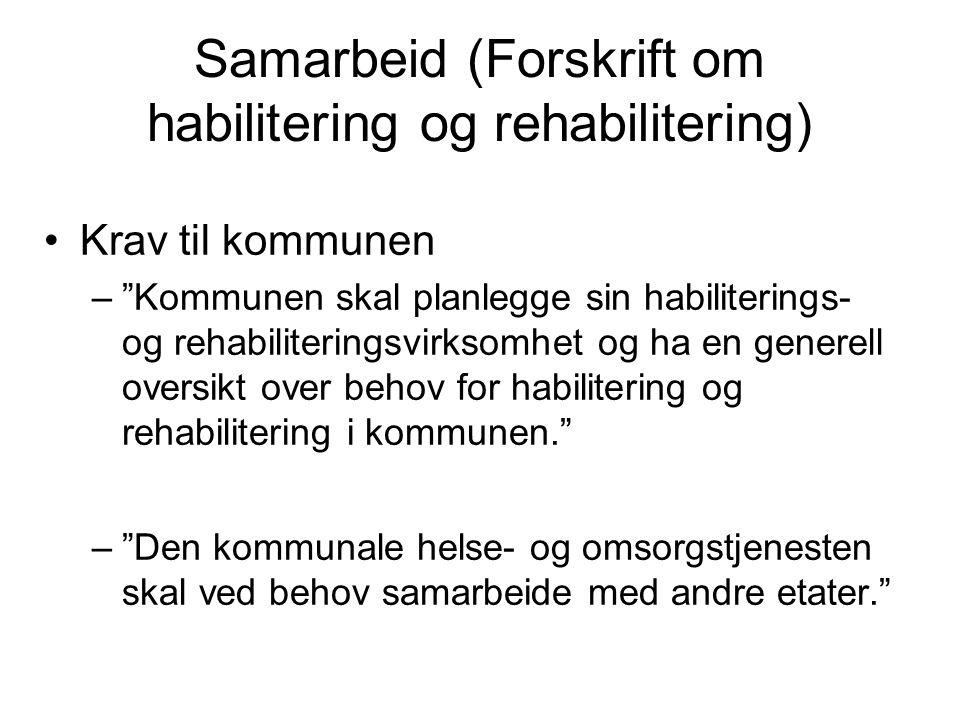 Samarbeid (Forskrift om habilitering og rehabilitering)