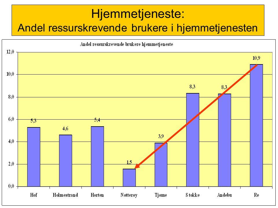 Hjemmetjeneste: Andel ressurskrevende brukere i hjemmetjenesten