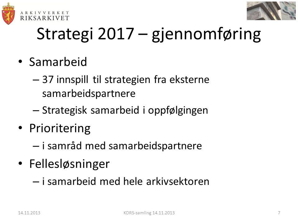 Strategi 2017 – gjennomføring