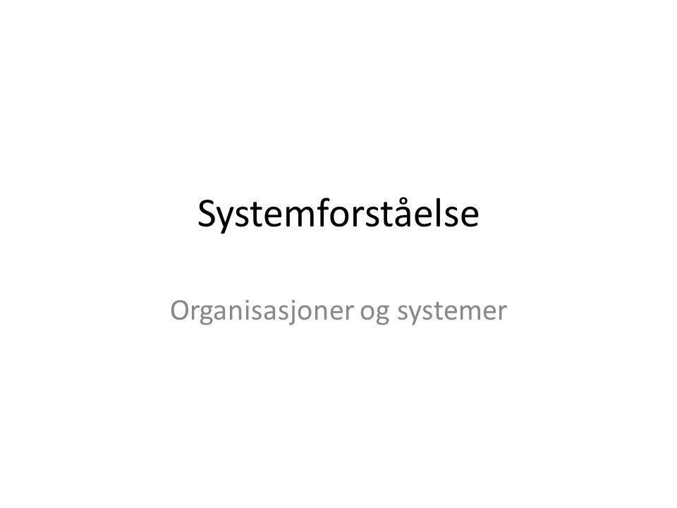 Organisasjoner og systemer