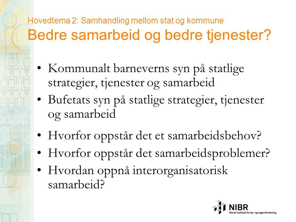 Bufetats syn på statlige strategier, tjenester og samarbeid