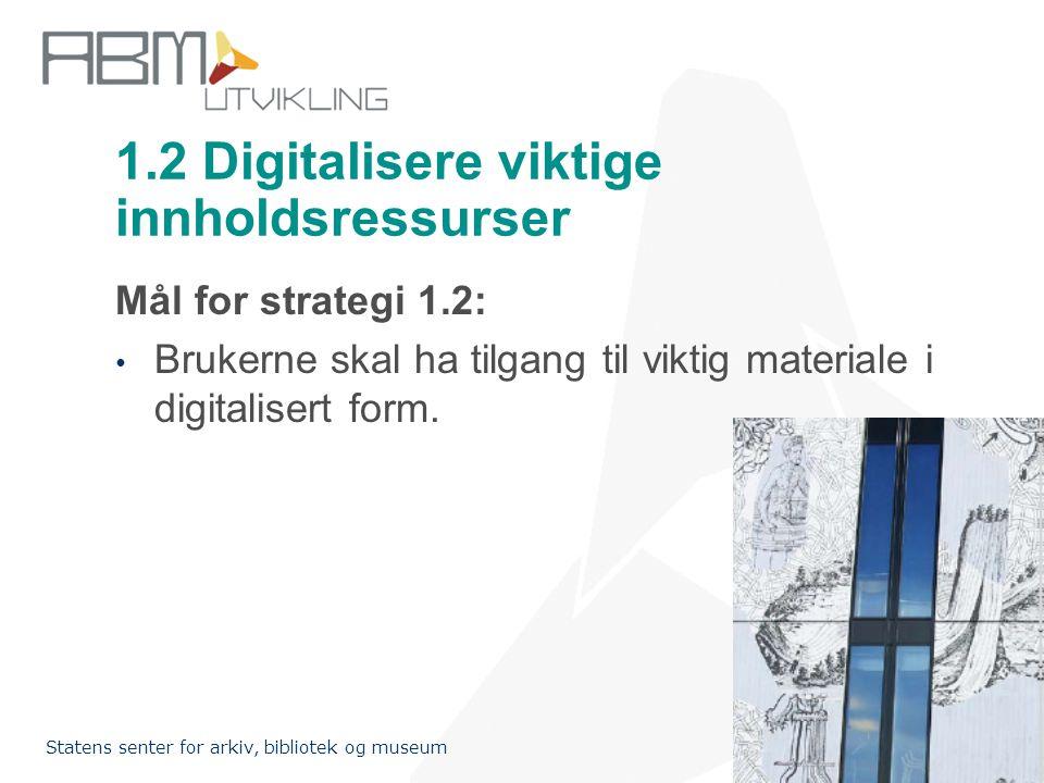 1.2 Digitalisere viktige innholdsressurser