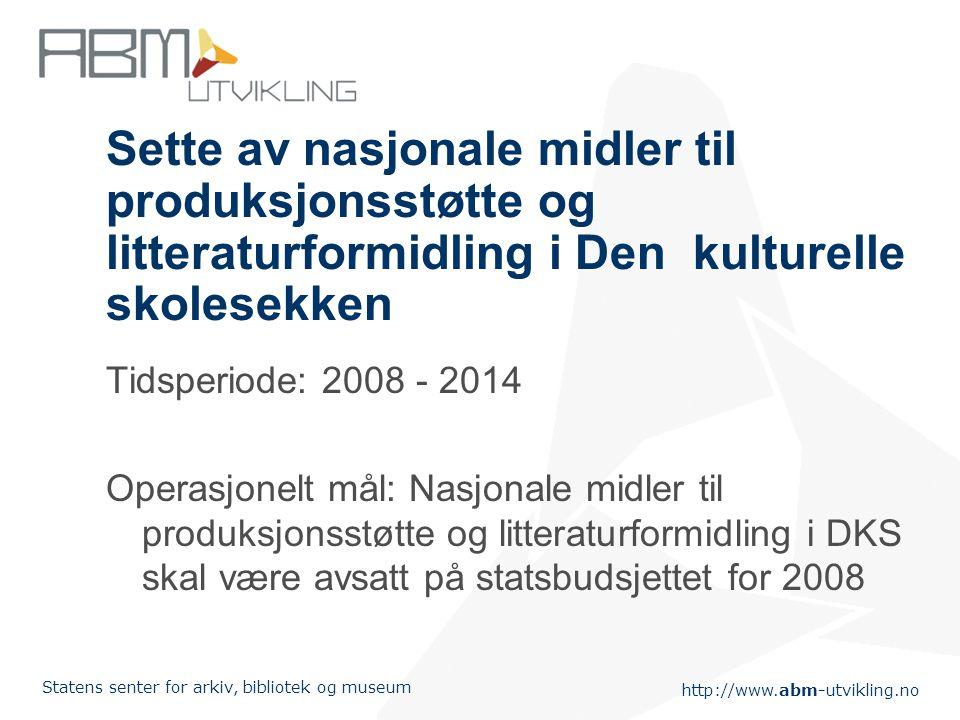 Sette av nasjonale midler til produksjonsstøtte og litteraturformidling i Den kulturelle skolesekken