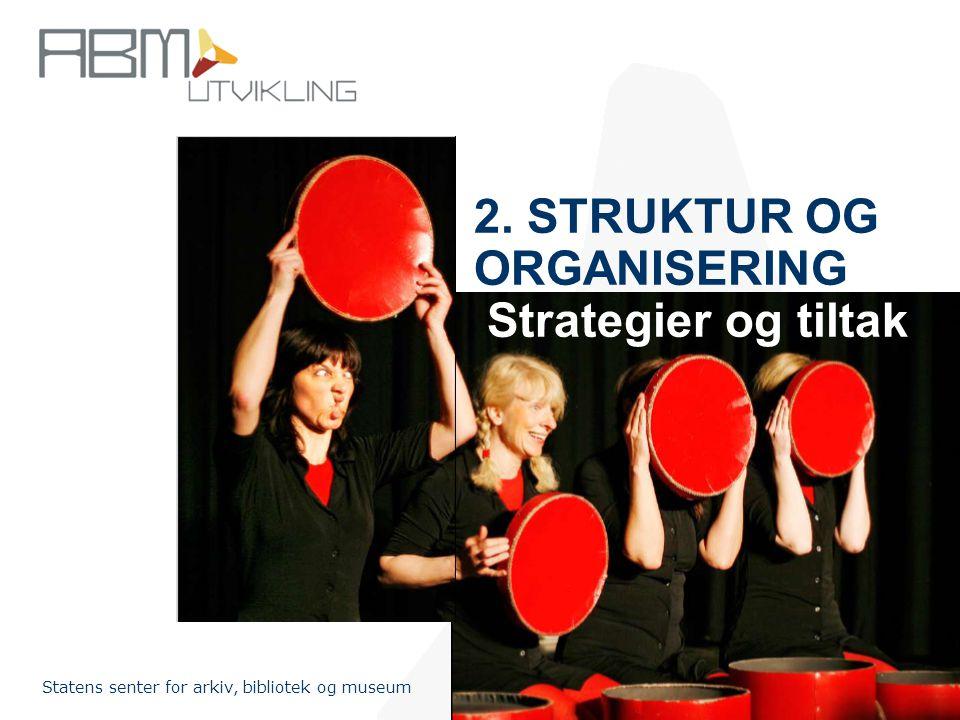 2. STRUKTUR OG ORGANISERING Strategier og tiltak