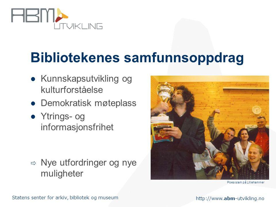 Bibliotekenes samfunnsoppdrag