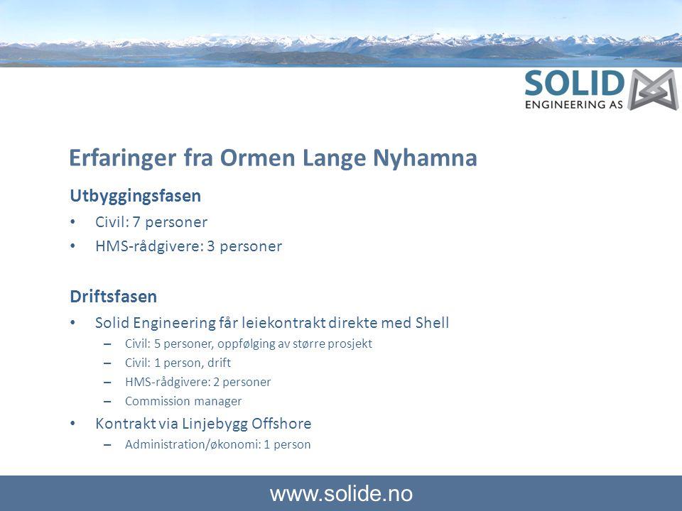 Erfaringer fra Ormen Lange Nyhamna
