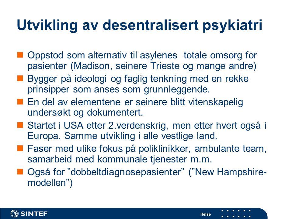 Utvikling av desentralisert psykiatri