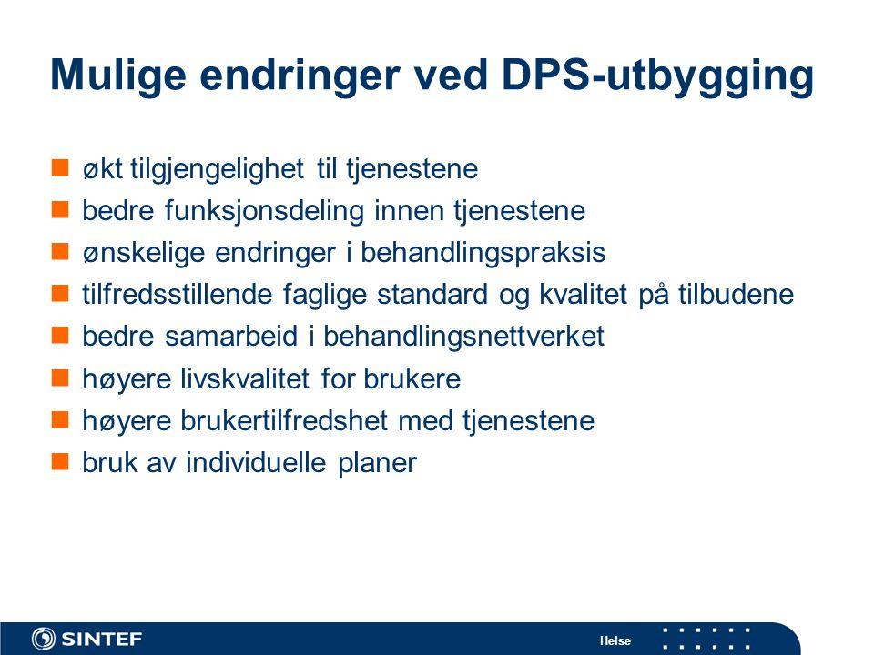 Mulige endringer ved DPS-utbygging