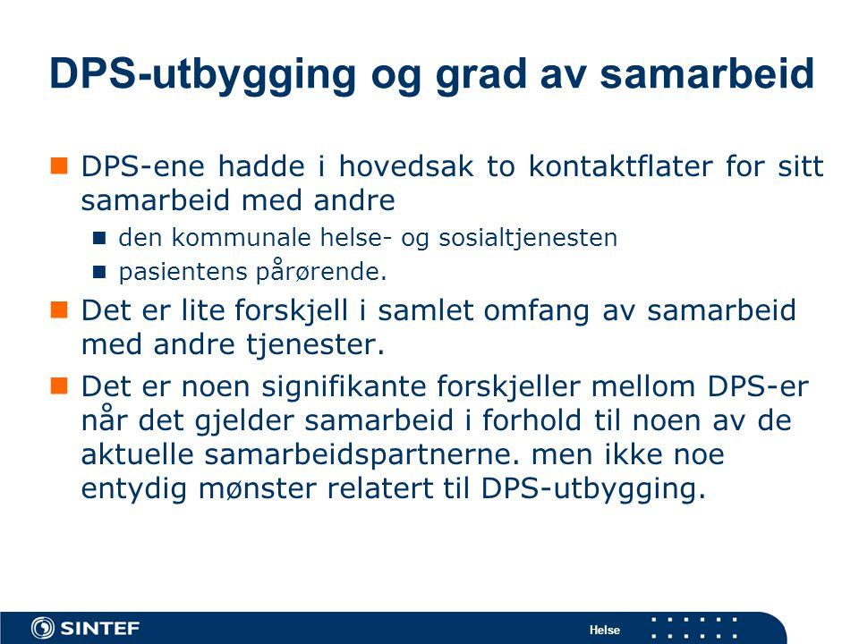 DPS-utbygging og grad av samarbeid