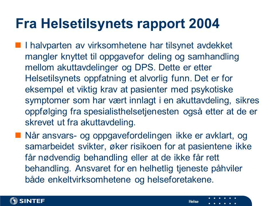 Fra Helsetilsynets rapport 2004