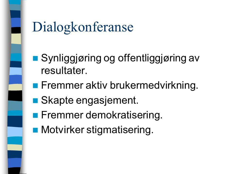 Dialogkonferanse Synliggjøring og offentliggjøring av resultater.