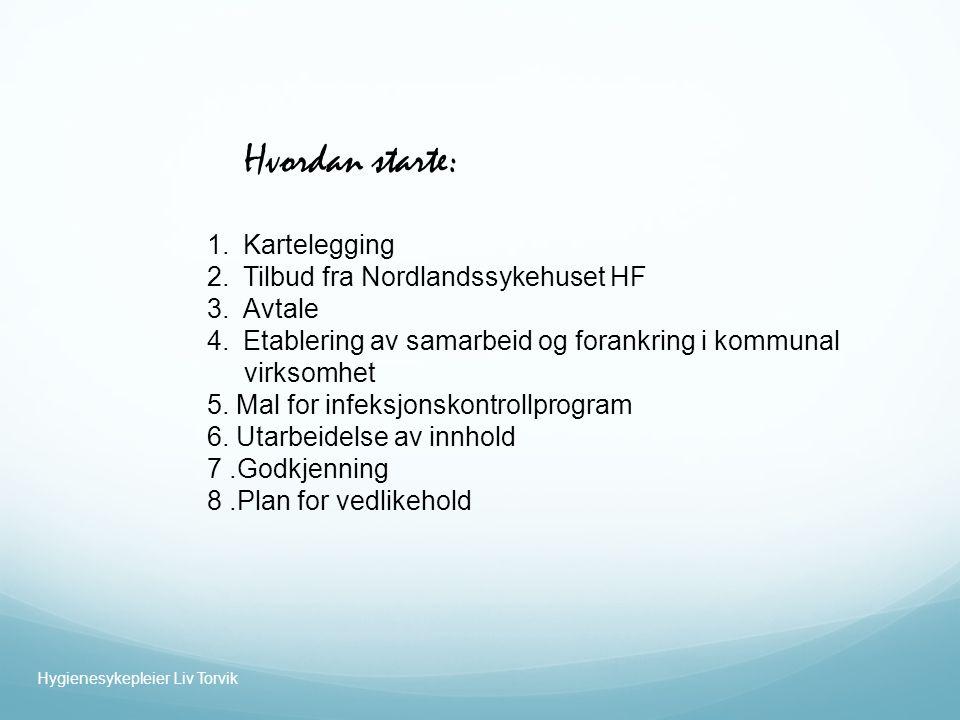 Hvordan starte: Kartelegging Tilbud fra Nordlandssykehuset HF Avtale