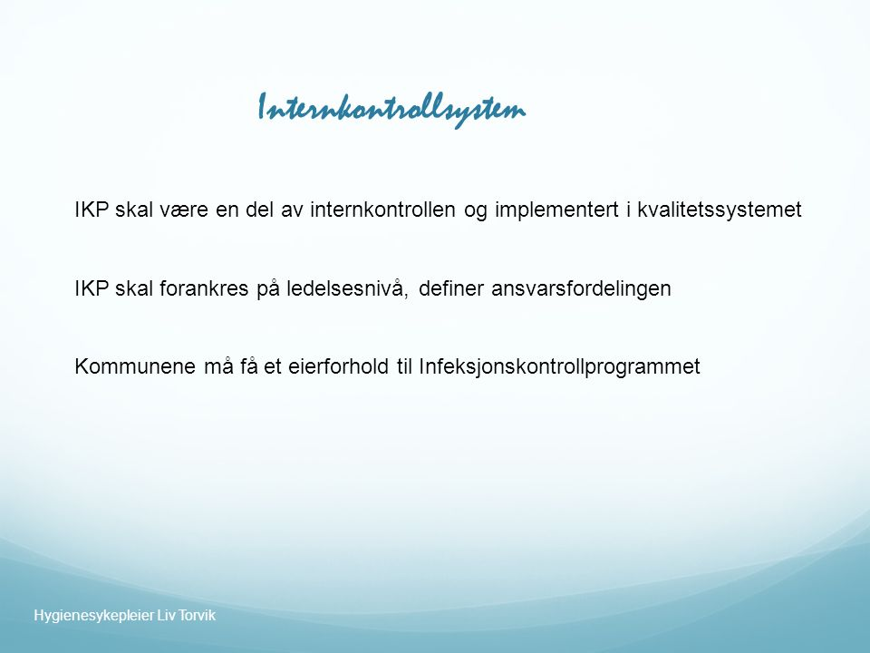 Internkontrollsystem