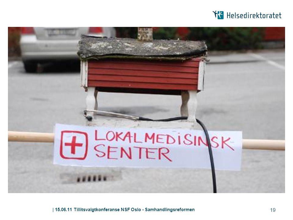 | 15.06.11 Tillitsvalgtkonferanse NSF Oslo - Samhandlingsreformen