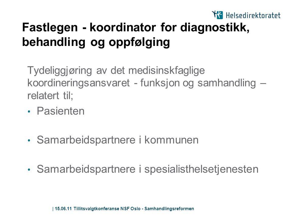 Fastlegen - koordinator for diagnostikk, behandling og oppfølging