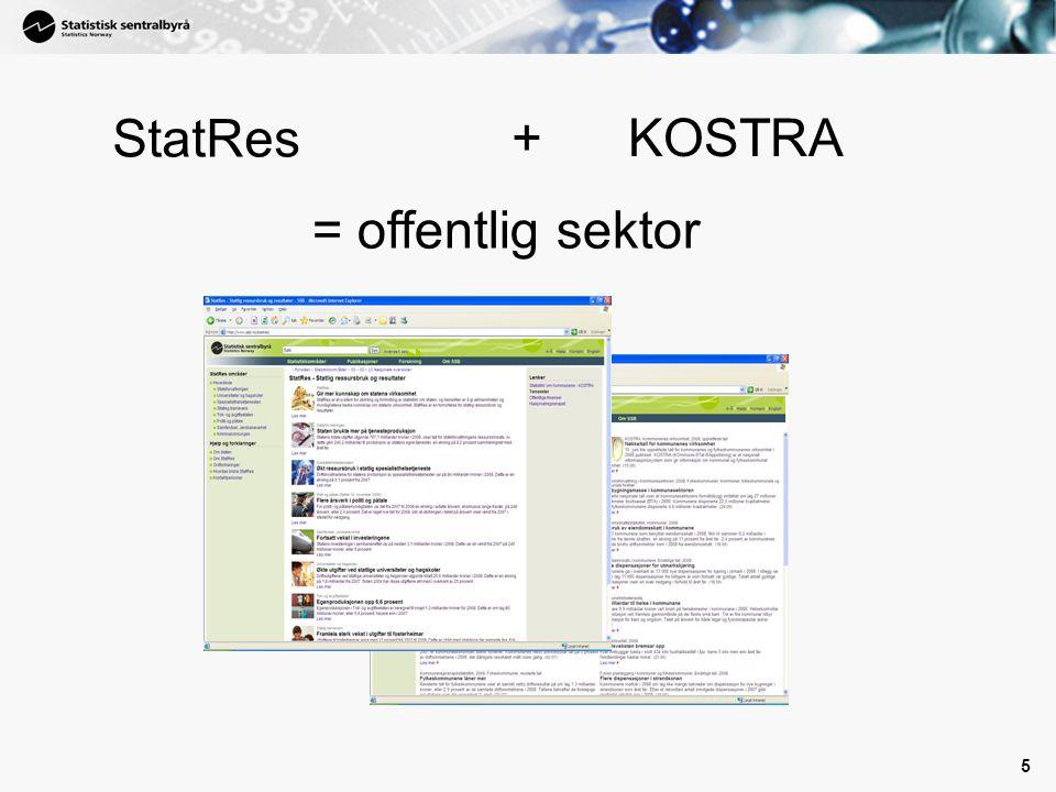 StatRes + KOSTRA = offentlig sektor