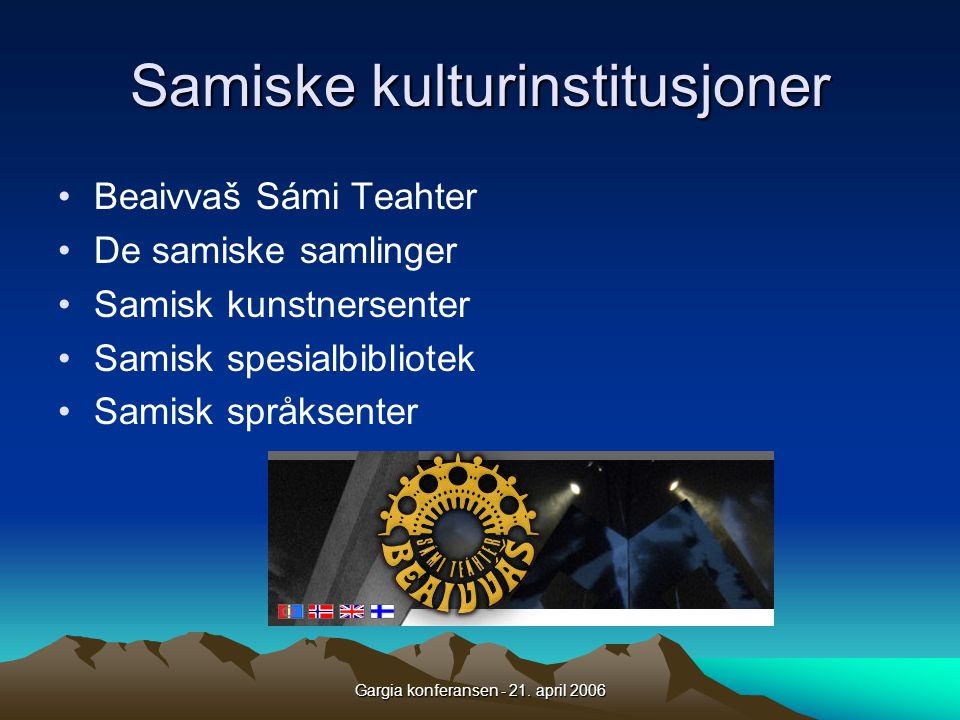 Samiske kulturinstitusjoner