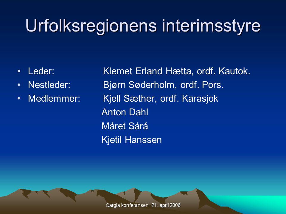 Urfolksregionens interimsstyre