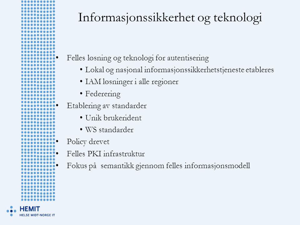 Informasjonssikkerhet og teknologi