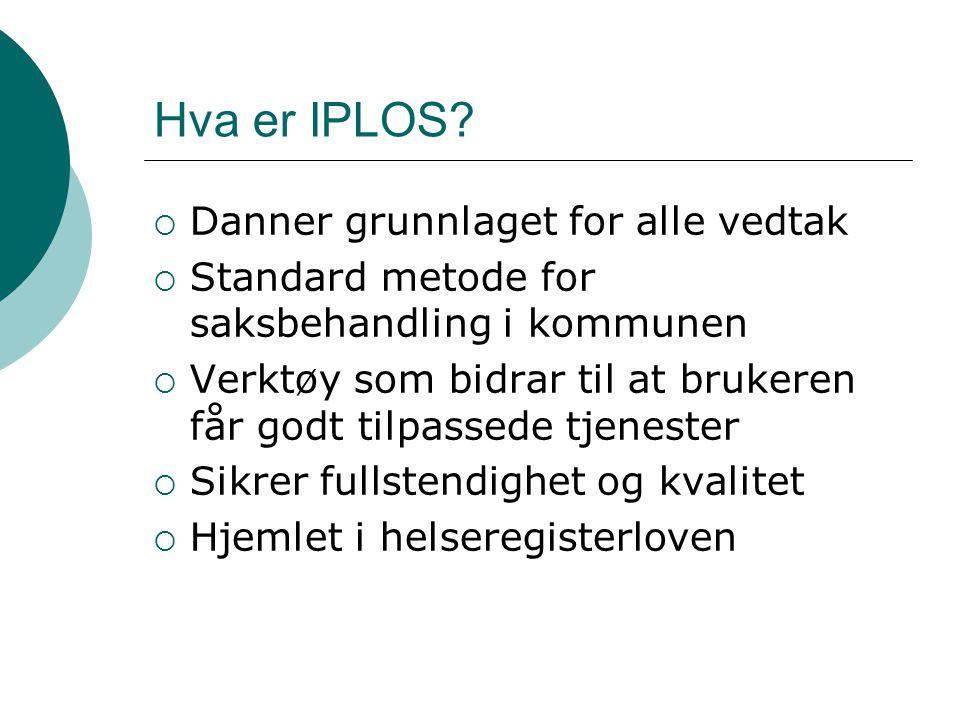 Hva er IPLOS Danner grunnlaget for alle vedtak