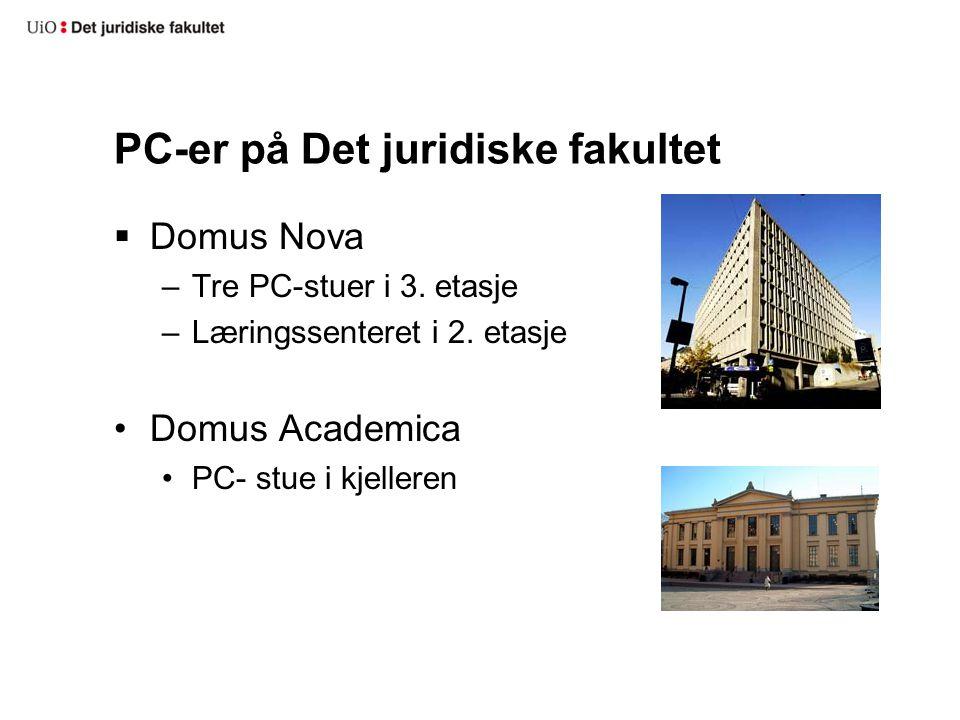 PC-er på Det juridiske fakultet