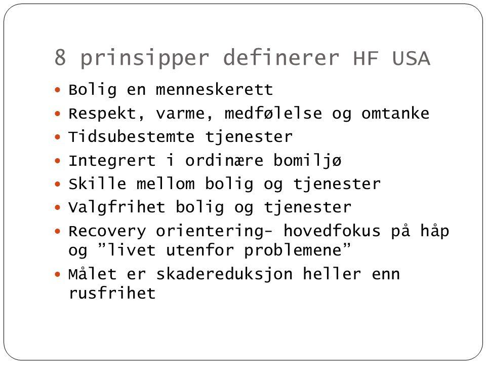 8 prinsipper definerer HF USA