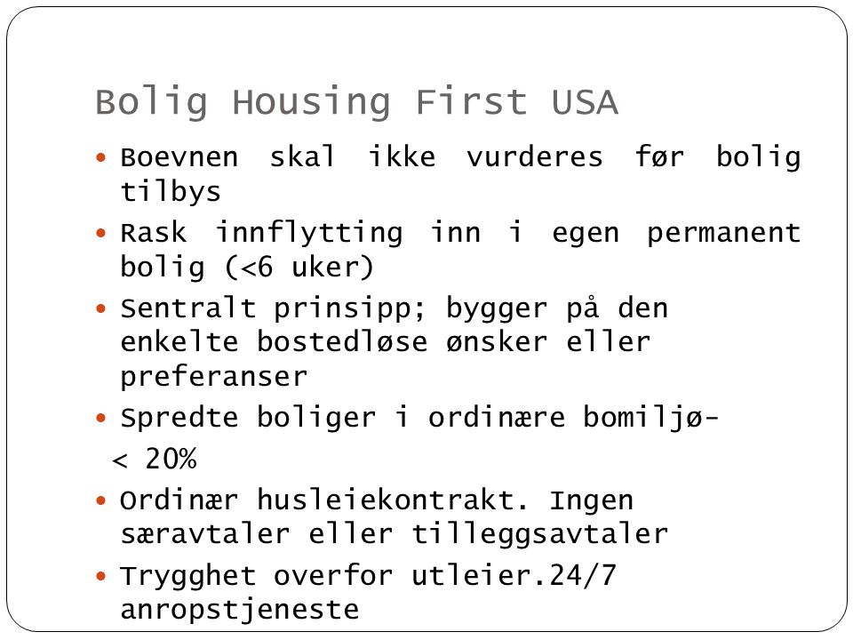 Bolig Housing First USA
