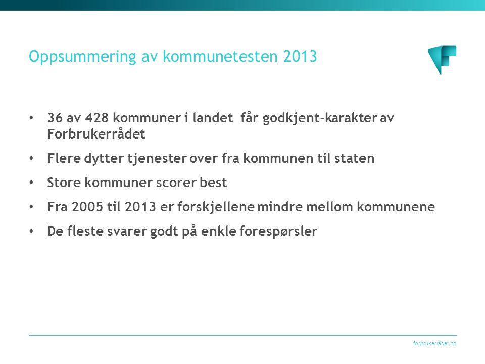 Oppsummering av kommunetesten 2013