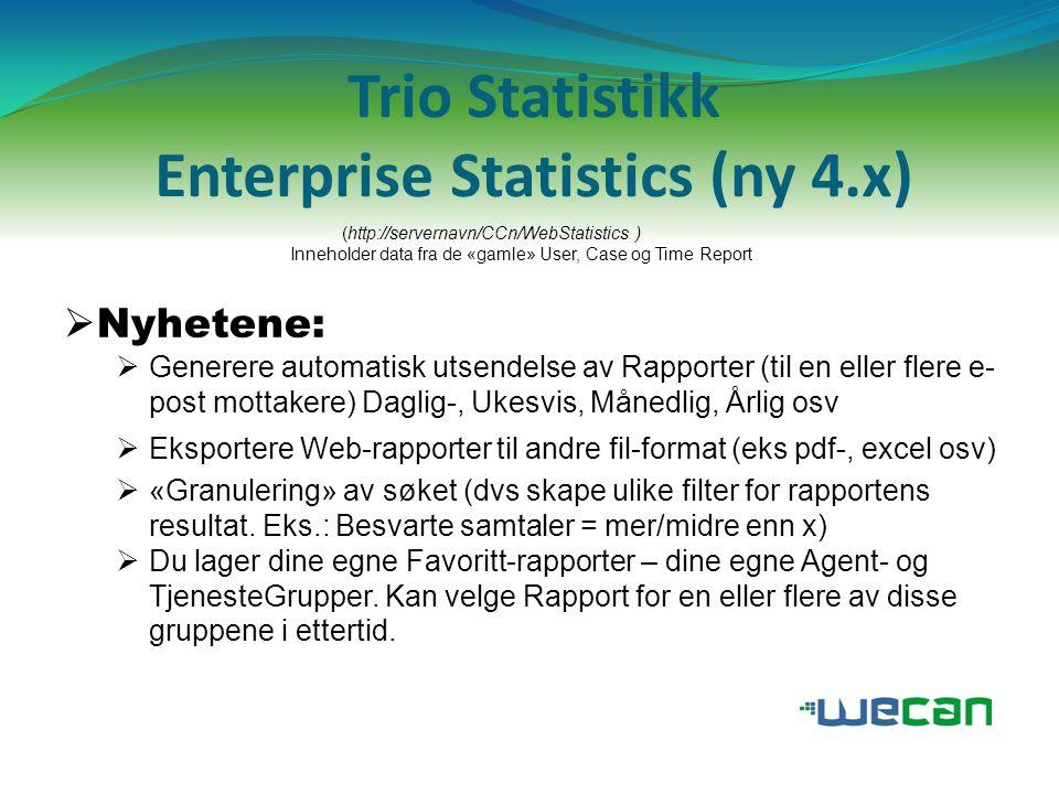 Trio Statistikk Enterprise Statistics (ny 4.x)