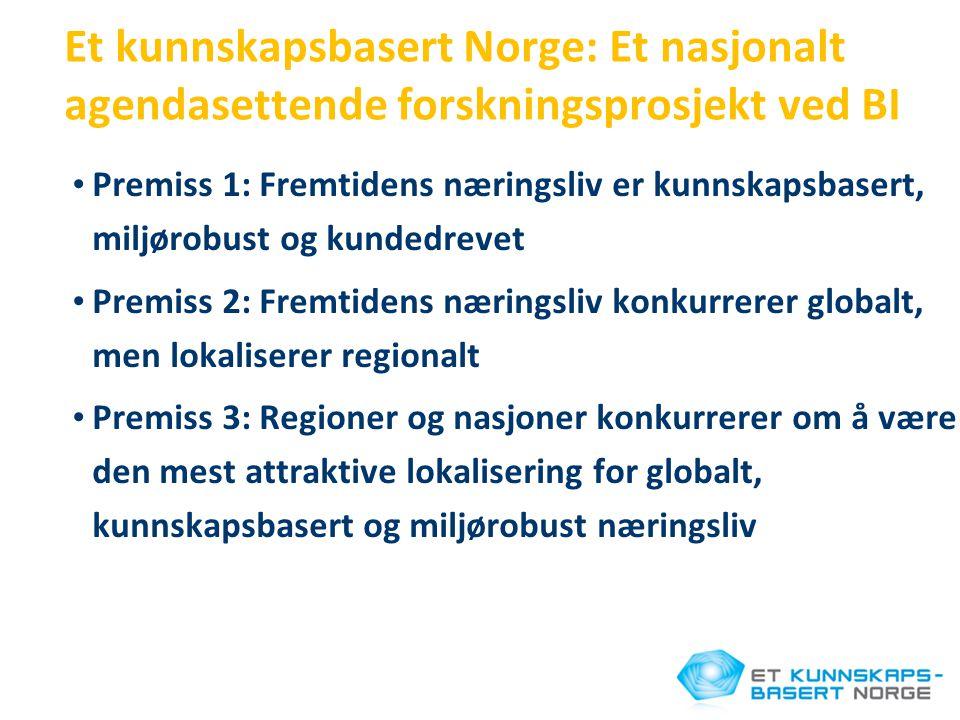 Et kunnskapsbasert Norge: Et nasjonalt agendasettende forskningsprosjekt ved BI