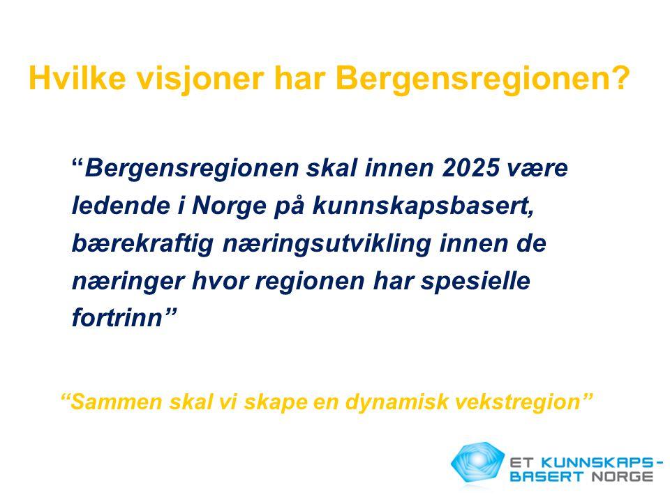 Hvilke visjoner har Bergensregionen
