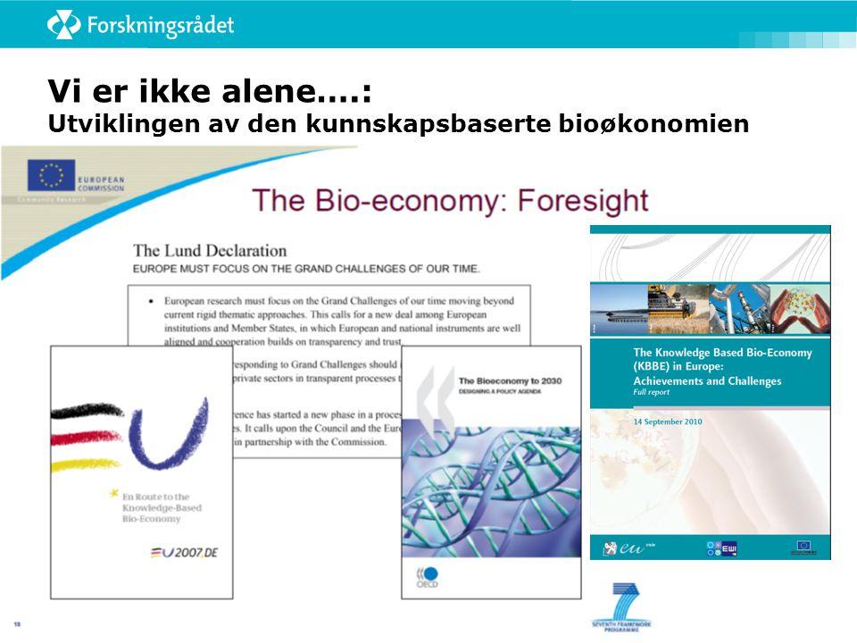 Vi er ikke alene….: Utviklingen av den kunnskapsbaserte bioøkonomien