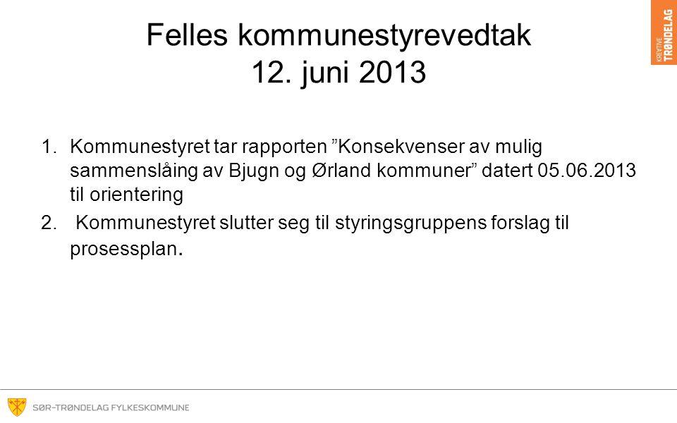 Felles kommunestyrevedtak 12. juni 2013