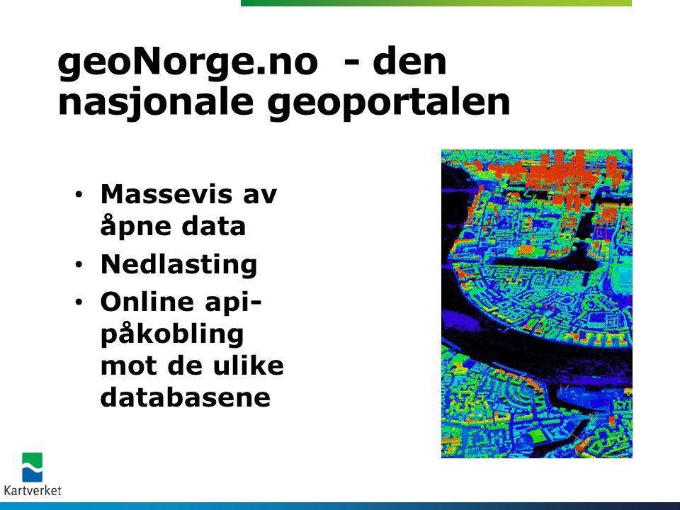 geoNorge.no - den nasjonale geoportalen