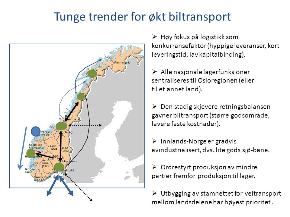 Tunge trender for økt biltransport