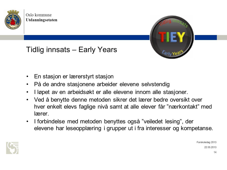 Tidlig innsats – Early Years