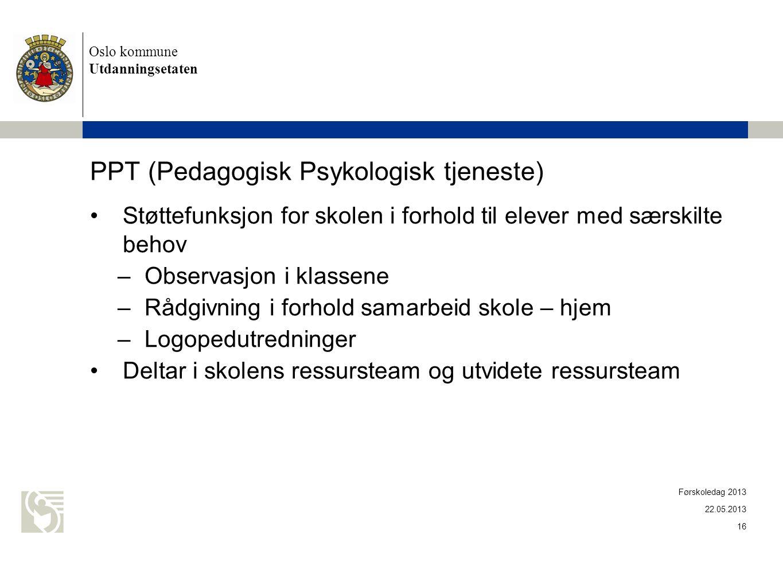 PPT (Pedagogisk Psykologisk tjeneste)