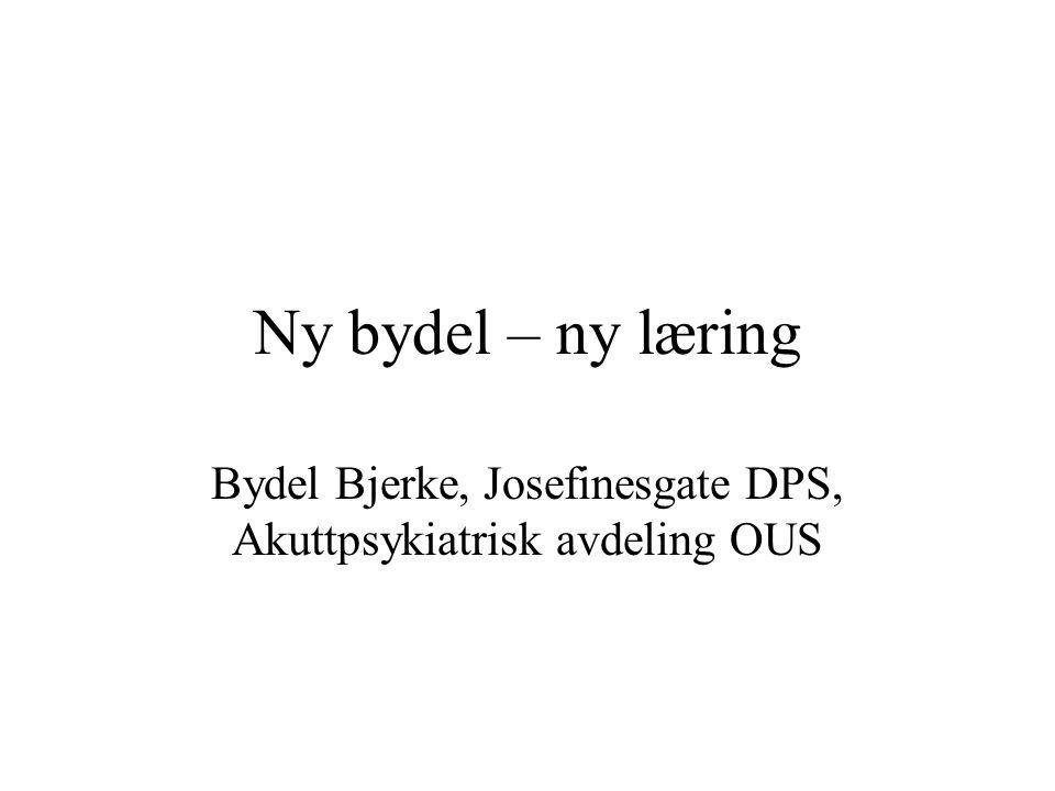 Bydel Bjerke, Josefinesgate DPS, Akuttpsykiatrisk avdeling OUS