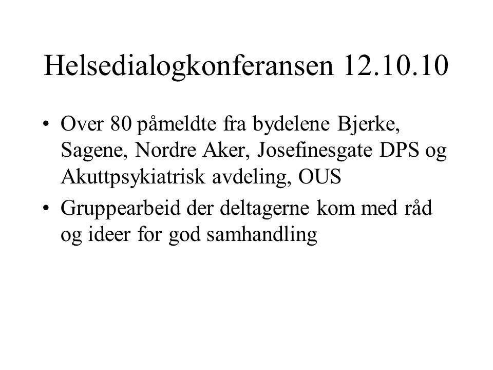 Helsedialogkonferansen 12.10.10