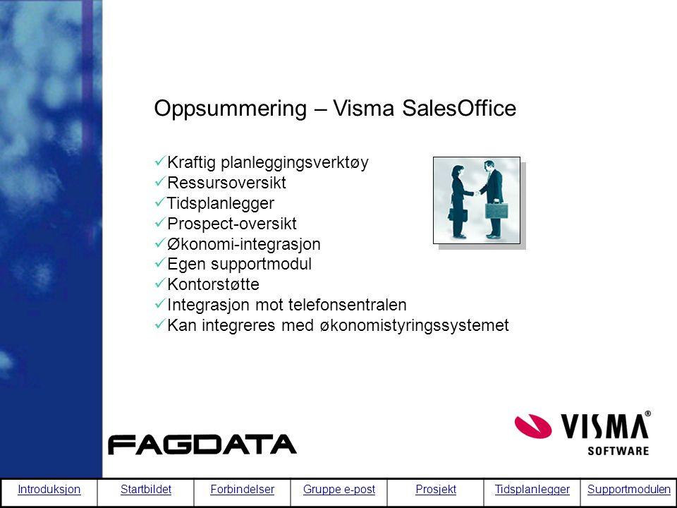 Oppsummering – Visma SalesOffice