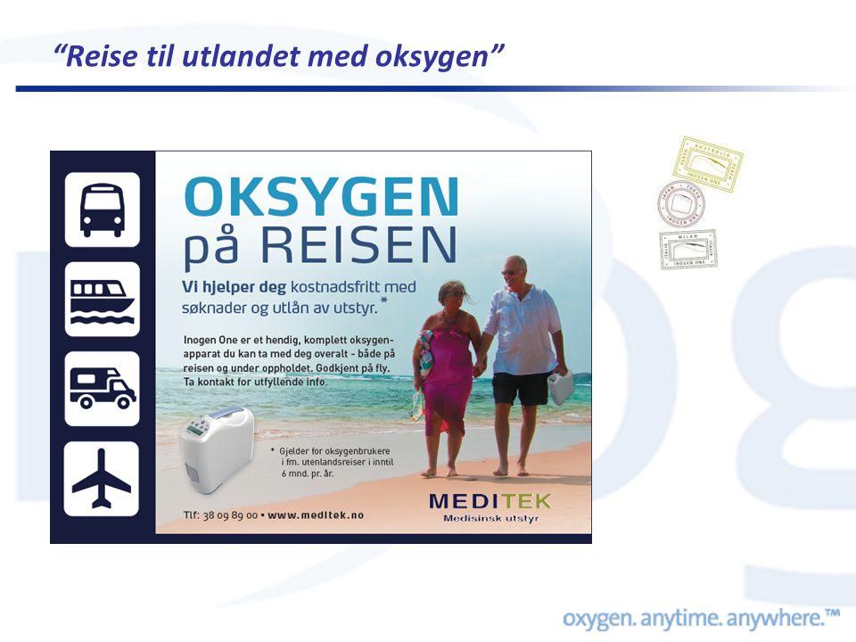 Reise til utlandet med oksygen