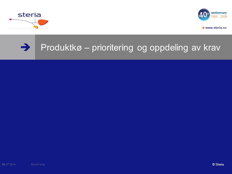 Produktkø – prioritering og oppdeling av krav