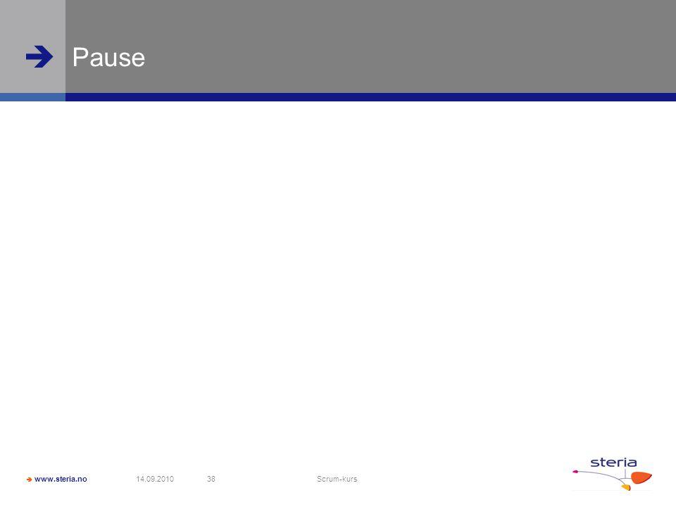 Pause 14.09.2010 Scrum-kurs