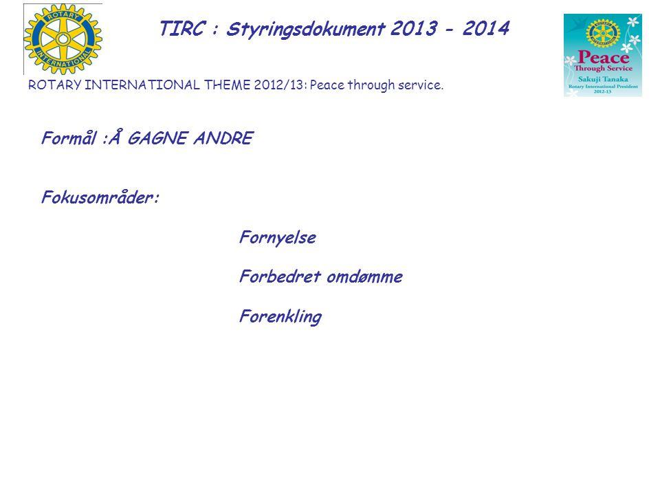 TIRC : Styringsdokument 2013 - 2014