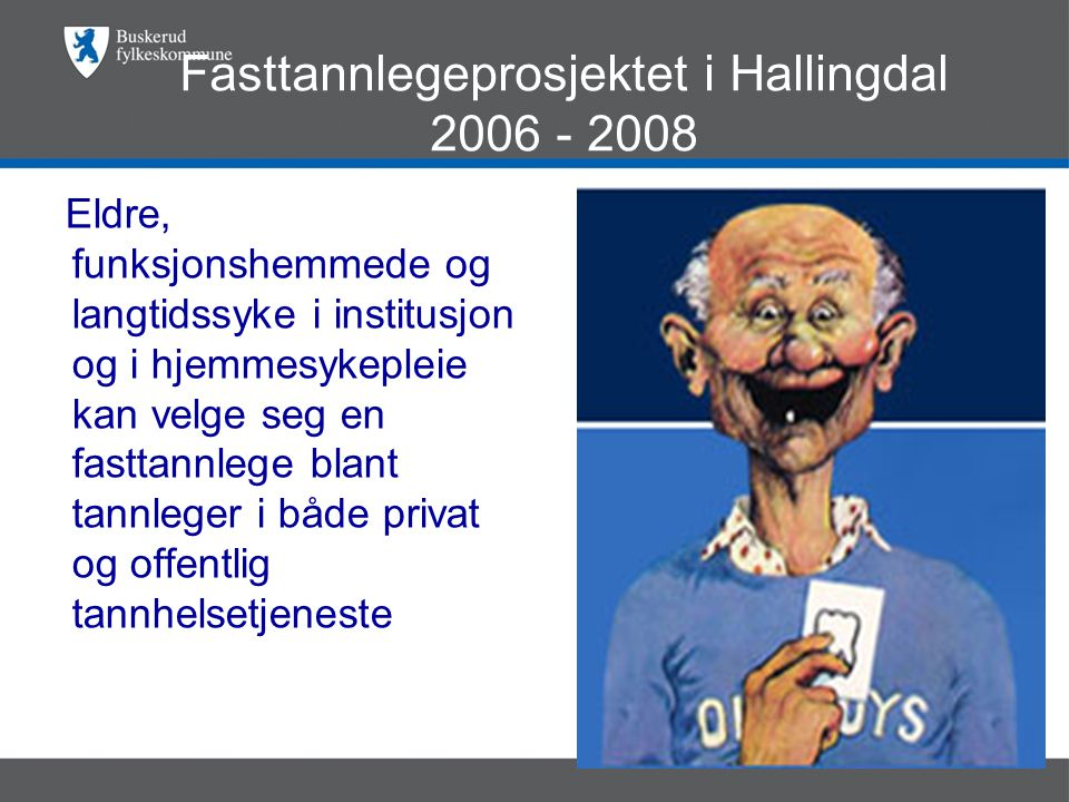 Fasttannlegeprosjektet i Hallingdal 2006 - 2008