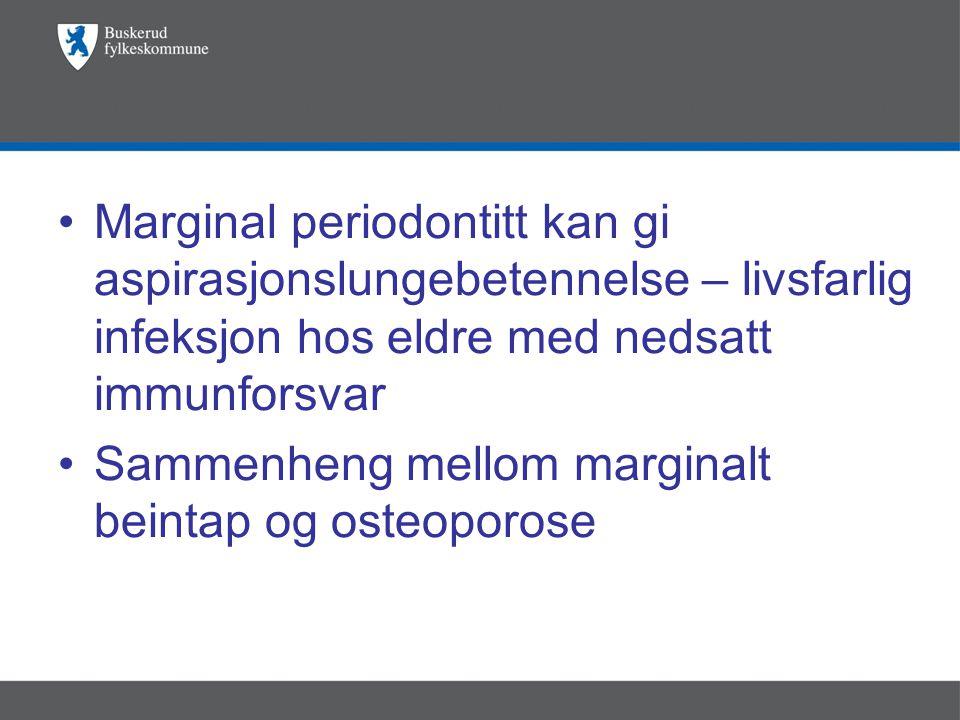 Marginal periodontitt kan gi aspirasjonslungebetennelse – livsfarlig infeksjon hos eldre med nedsatt immunforsvar