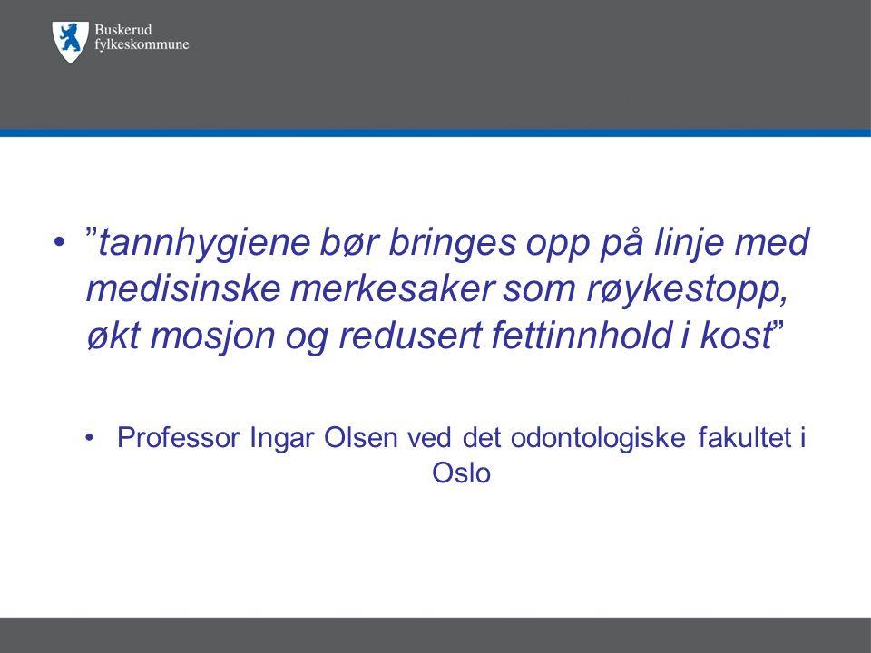 Professor Ingar Olsen ved det odontologiske fakultet i Oslo